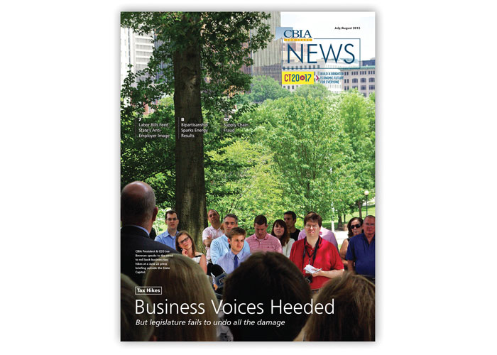 CBIA News Cover Design - July/August 2015