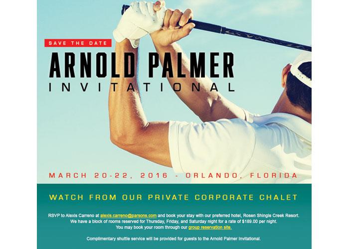 Arnold Palmer Golf Event Invite