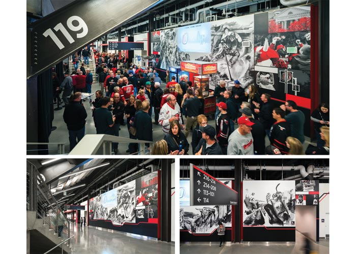 Baxter Arena Brand Experiential Design