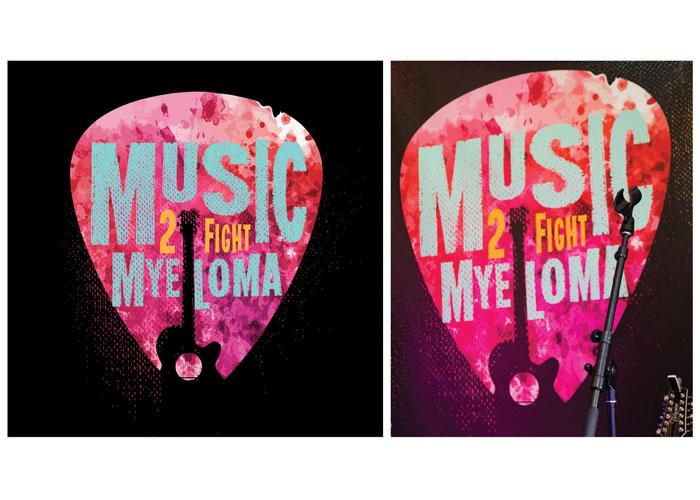 Music 2 Fight Myeloma Logo and Identity