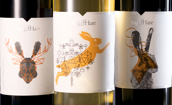StagHare-label illustrations close