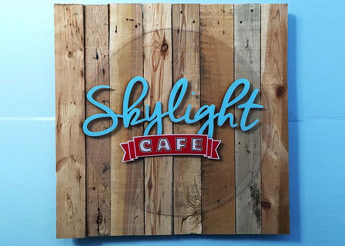 Skylight Cafe Logo and Signage