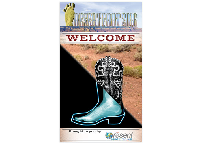 Desert Foot Welcome Banner by PRESENT e-Learning Systems