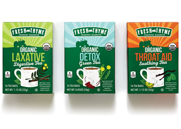 Functional Organic Tea Range Package Design