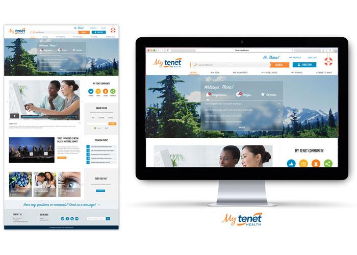 MyTenet Health Website Design