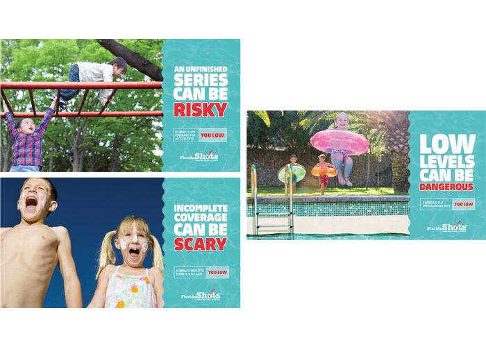 Florida SHOTS Immunization Levels Postcard Series by Brunet-Garcia