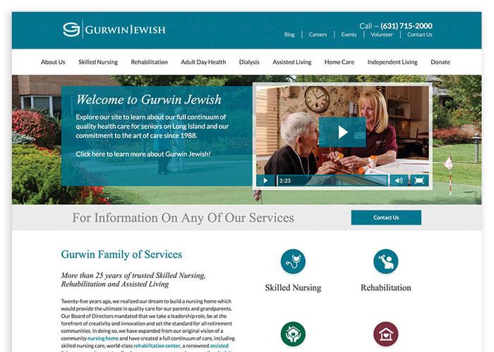 Gurwin Jewish Website Design by Epic Notion