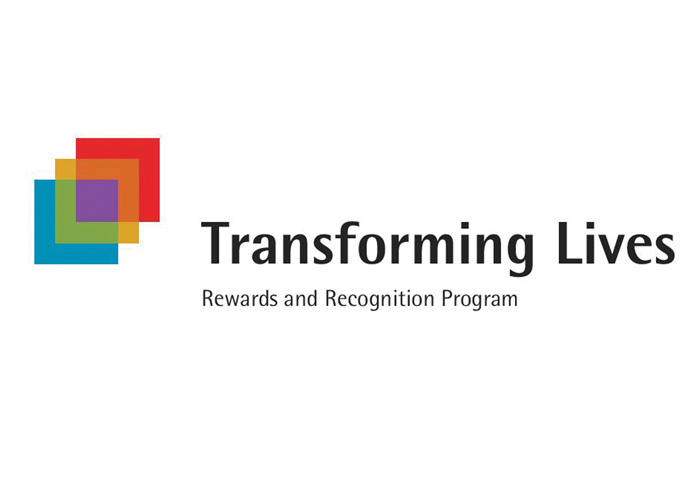 Transforming Lives Recognition and Rewards Program Logo by The Wyant Simboli Group