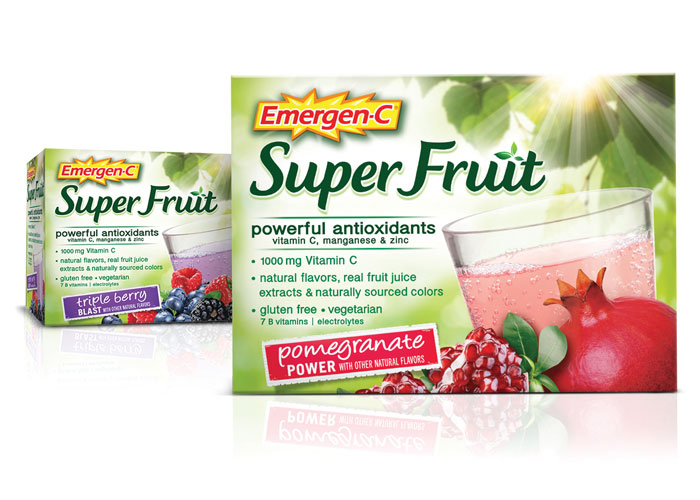 Emergen-C Super Fruit Package Design by S<sup>2</sup> Design Group