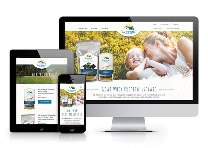 A2-Immune Website Design by Back Forty Creative