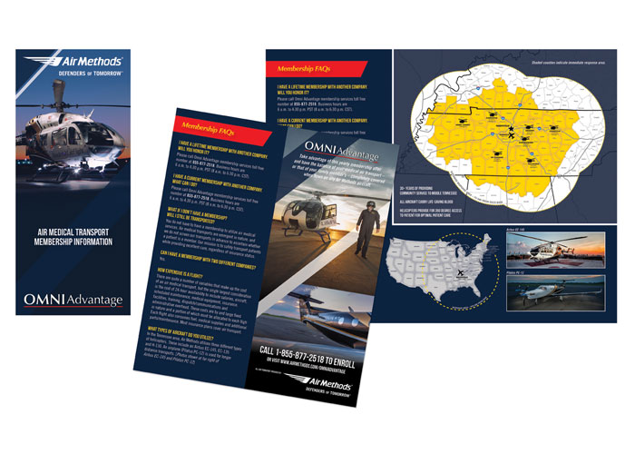 OmniAdvantage Air Medical Transport Membership Brochure by Donna Huff Design