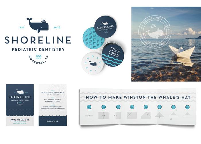 Shore Line Pediatric Dentistry Brand Identity by Test Monki