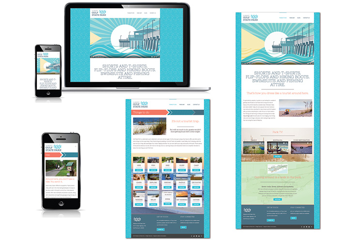 Alabama Gulf State Park Website Design & Development by Native Design & Brand Communications