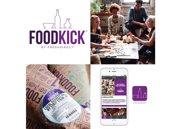FoodKick Branding and Identity