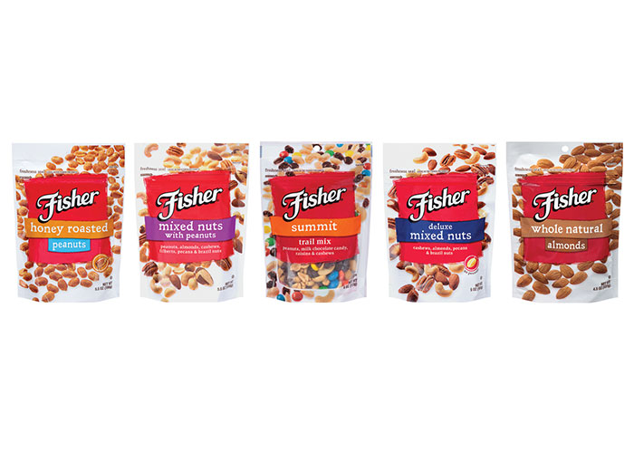Fisher Snack Nuts Package Design by Damen Jackson