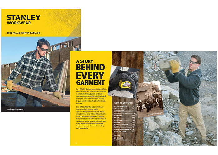 Stanley Workwear 2016 Fall & Winter Catalog by RandyRichardsDesign