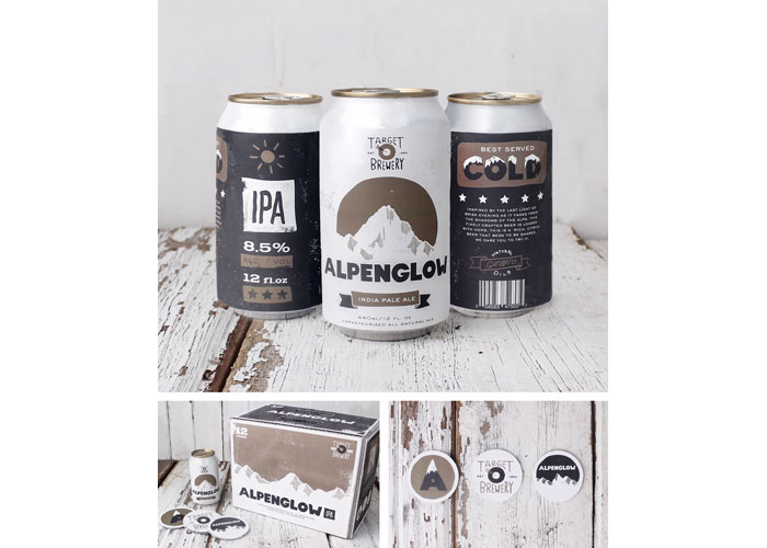 Alpenglow IPA Beer Branding Project by School of Advertising Art (SAA)