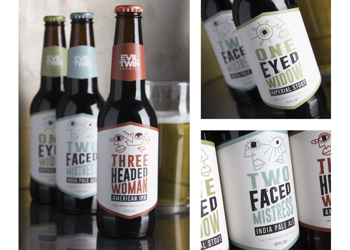 Evil Twin Beer Labels Project by School of Advertising Art (SAA)