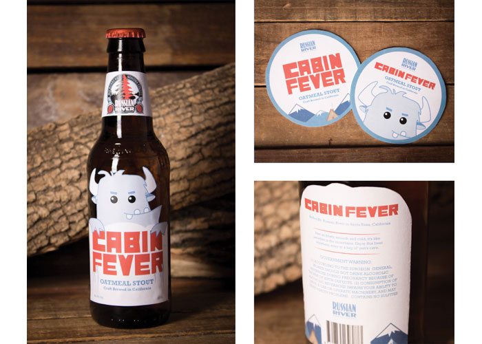 Cabin Fever Beer Label Project by School of Advertising Art (SAA)