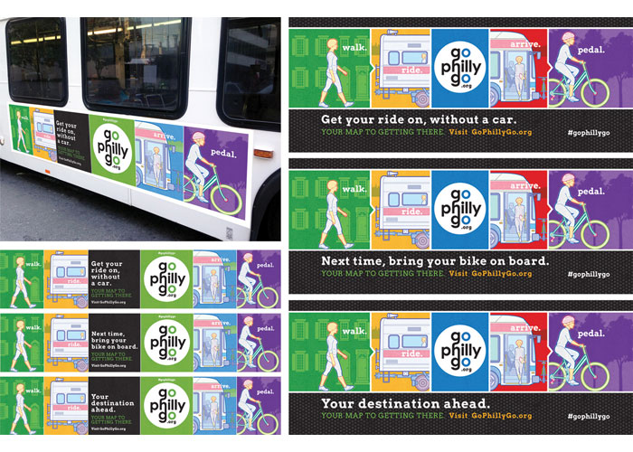 GoPhillyGo Public Transit Campaign by Warkulwiz Design Associates