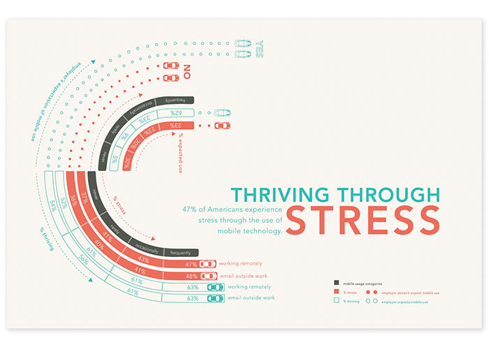 Information Graphic Project: Thriving Through Stress by Woodbury University, Graphic Design Department