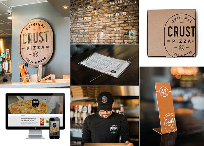 Crust Pizza Co. Brand Identity