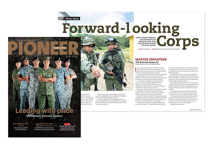 Pioneer June 2016 - Leading With Pride by Ministry of Defence, Singapore, Defence Media Centre