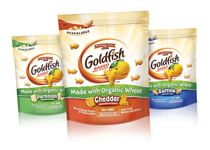 Goldfish Organic and Whole Grain Snack Crackers by S2 Design Group