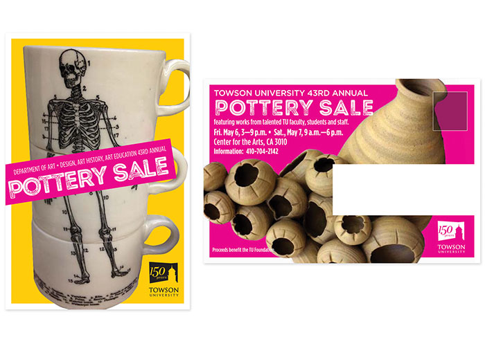 Pottery Sale Postcard