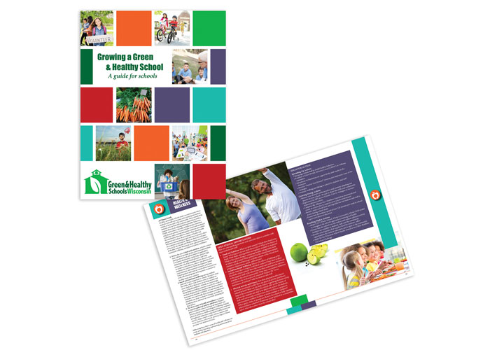 Growing A Green & Healthy School, A Guide For Schools by Evolution Marketing