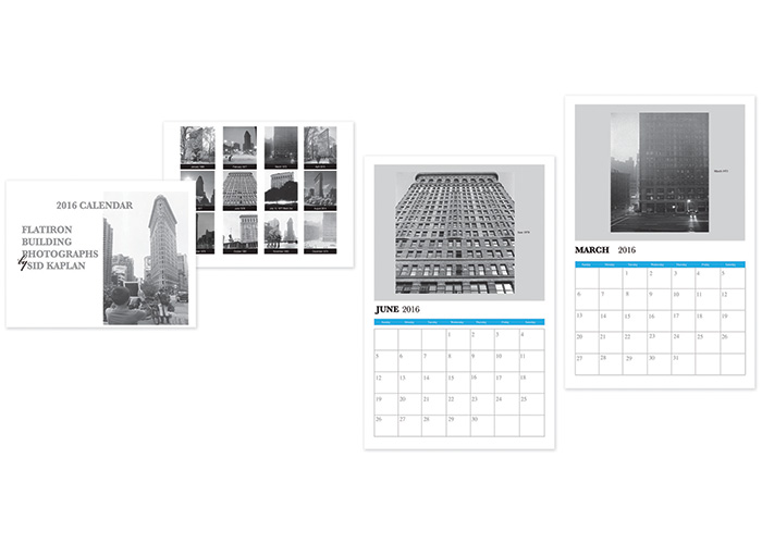 Flatiron Building Retro Calendar by Fine Design, Inc.