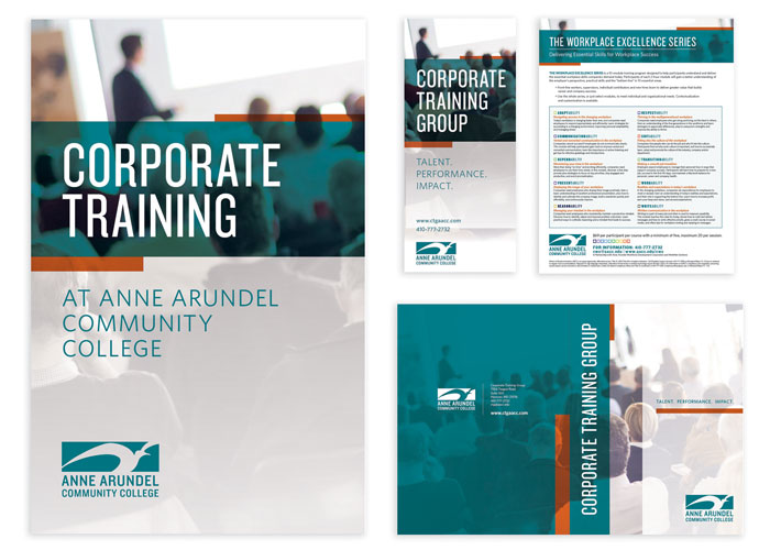 Corporate Training Group Collateral Materials by Anne Arundel Community College, Creative Services