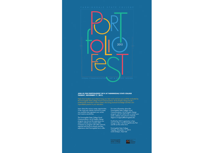 PortfolioFest 2016 by Farmingdale State College, Visual Communications