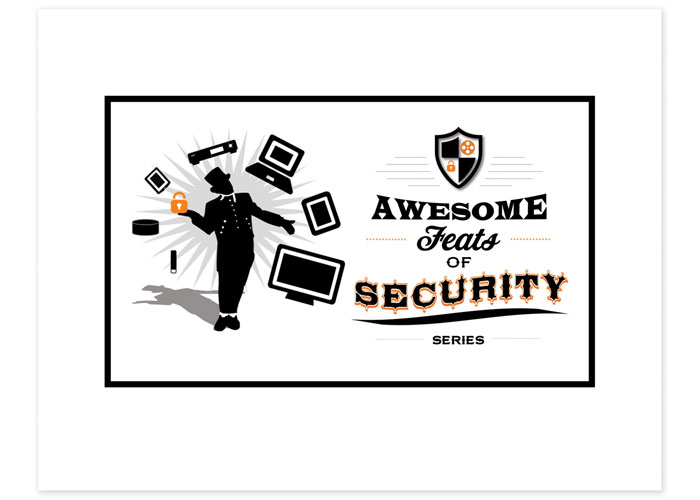Awesome Feats of Security Brand Campaign Logo