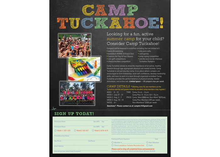 Camp Tuckahoe Flyer by CSE Identity Design