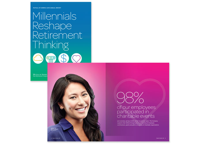 2015 Annual Report Millenials Reshape Retirement by Decker Design