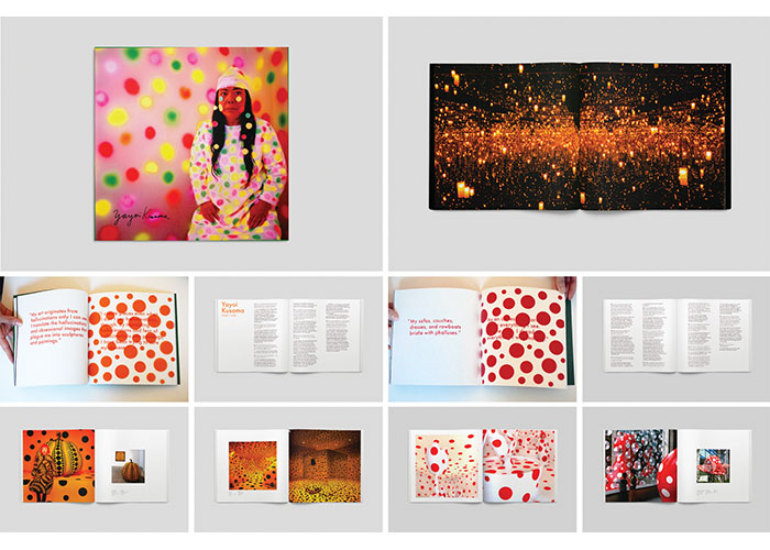 Yayoi Kusama Book Project by Parsons School of Design