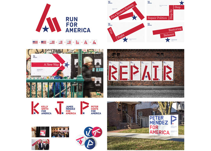 Run for America Branding by The Partners, London