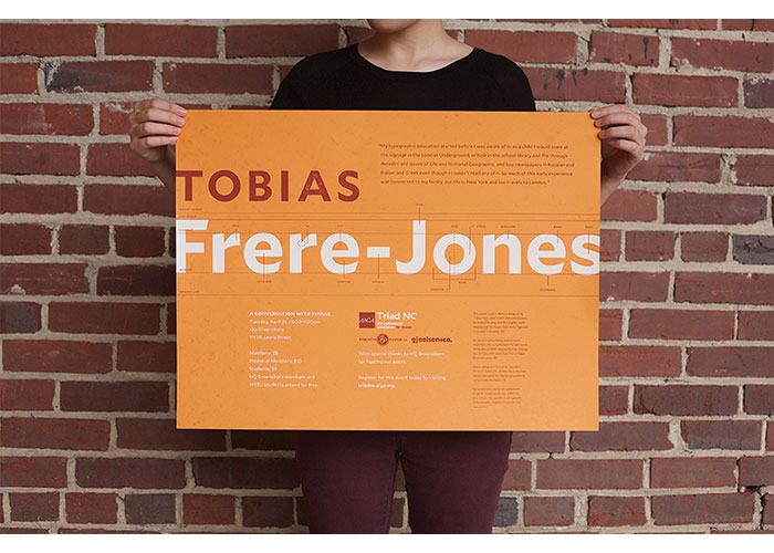 Tobias Frere-Jones Event Poster by Fifth Letter