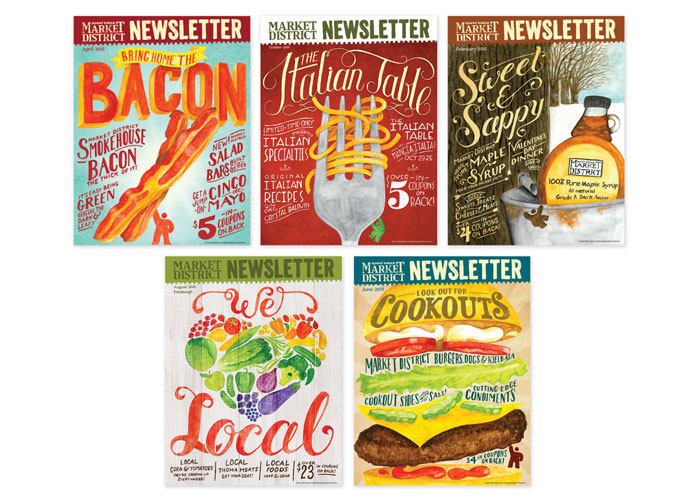 Newsletter Covers by Giant Eagle Advertising Department