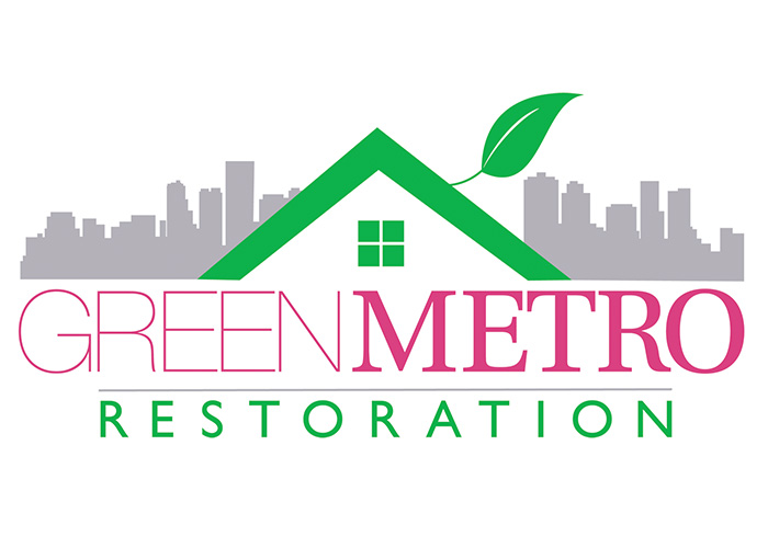 Green Metro Restoration Logo Design