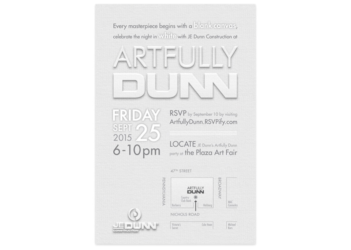 Artfully Dunn Invitation by JE Dunn Construction