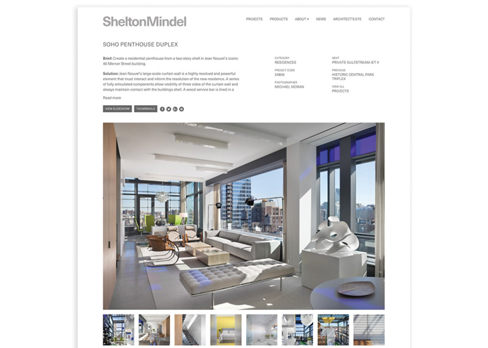 Shelton Mindel Website by KUDOS Design Collaboratory