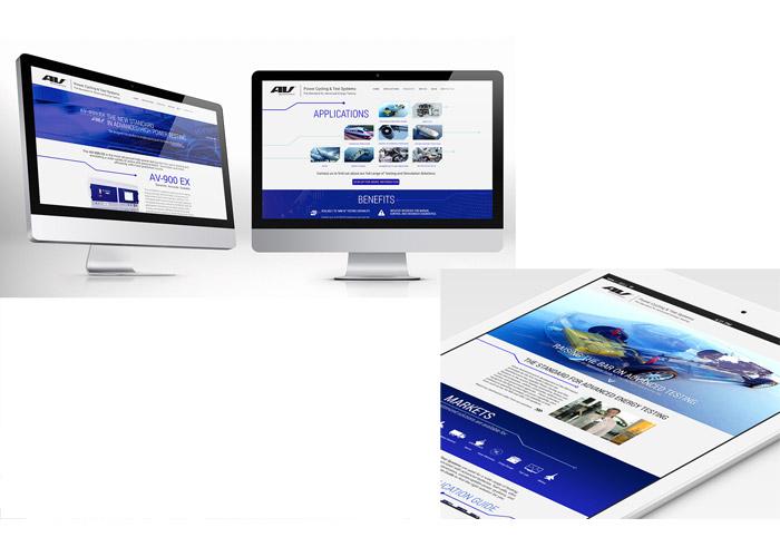AV Test Systems Website Design