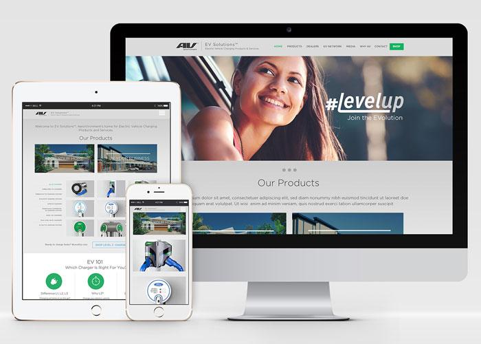EV Solutions Website Design