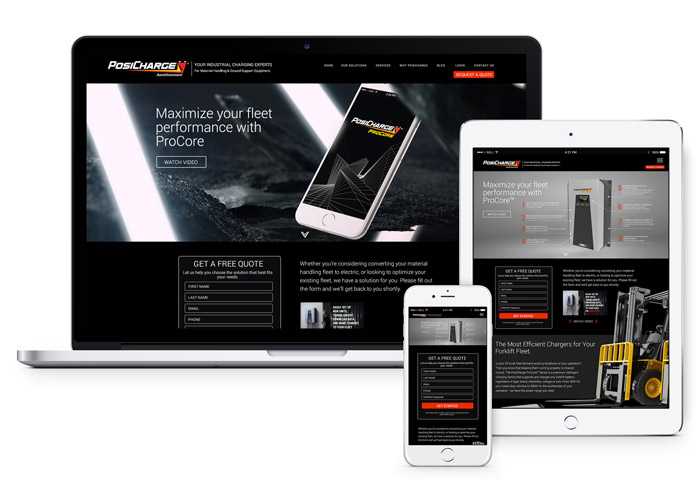 PosiCharge ProCore Landing Page Design