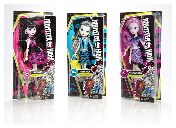 Monster High® Core Dolls Rebrand by Mattel Inc.