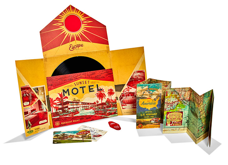Reckless Kelly's Sunset Motel Media Packaging by Print Craft