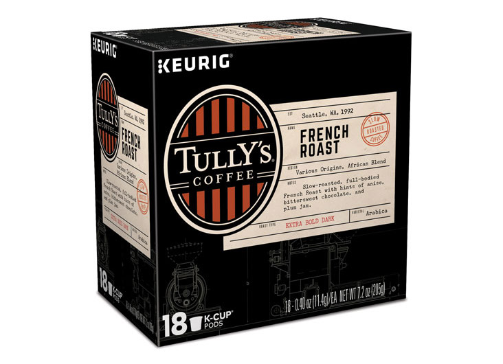 Tully's Coffee Packaging by Keurig Green Mountain