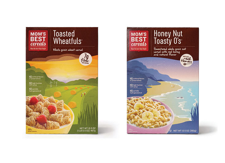 Mom's Best Adult Cereal Packaging by Ideas that Kick